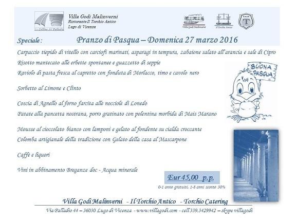 Pasqua 2016 - Villa Godi Malinverni